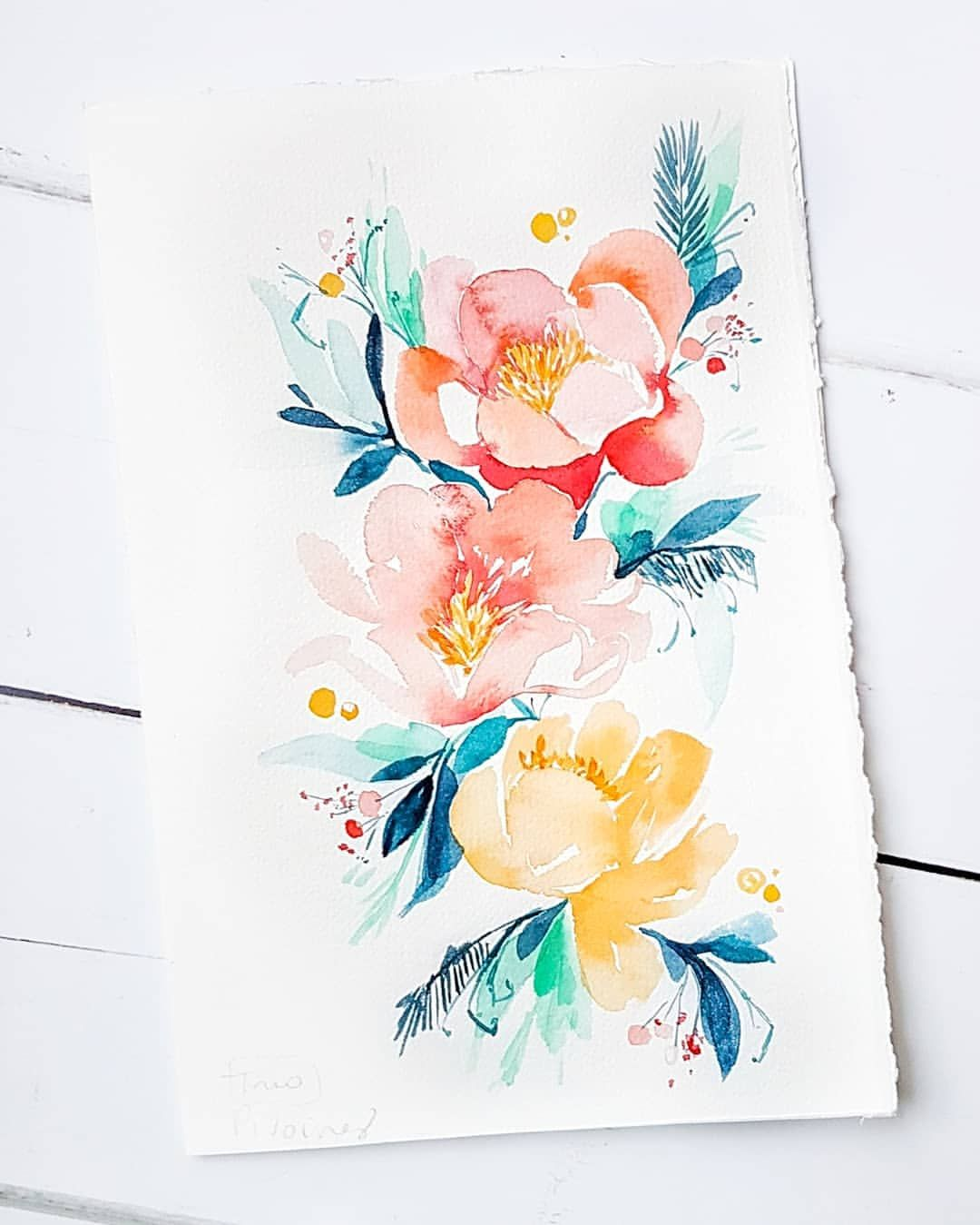 Defi Fleurs Aquarelle Sujet N 24 Trio Today Challenge Is A