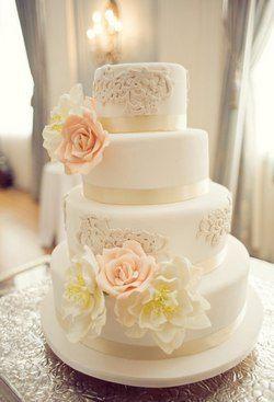 Mariage Vintage Pastel Rose Pale Et Bleu Marine Blanc