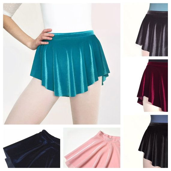 Velvet Ballet Skirts Various Colors Black Teal Blue Charcoal Gray Pink Navy Stretch Dance Gift SAB Skirt
