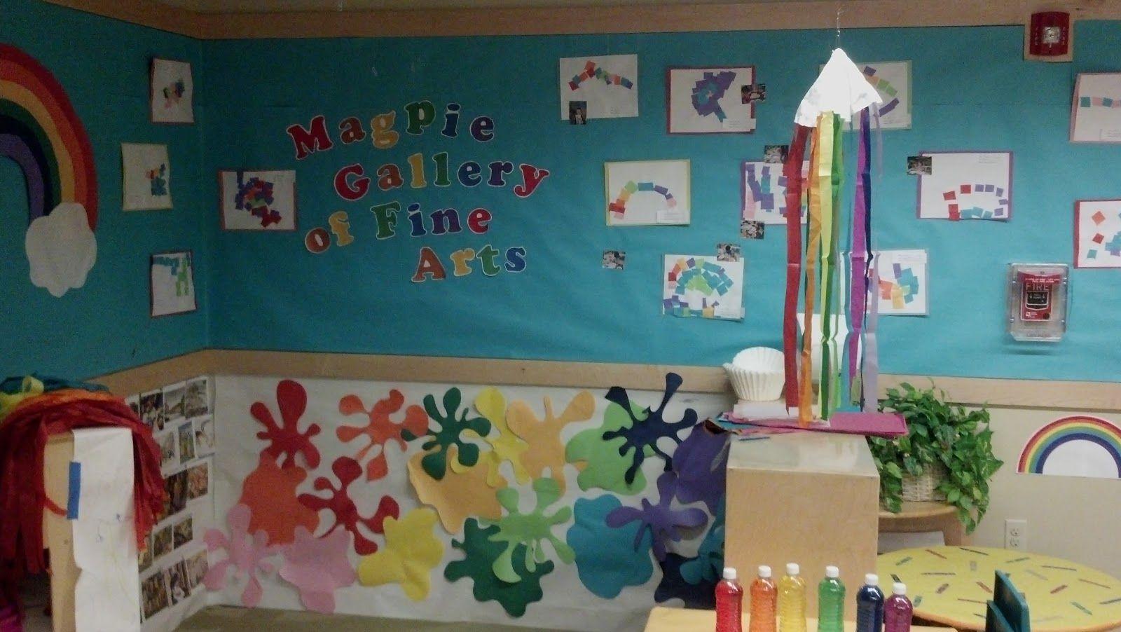 Dramatic play idea: art gallery (to represent rainbows) | artist ...