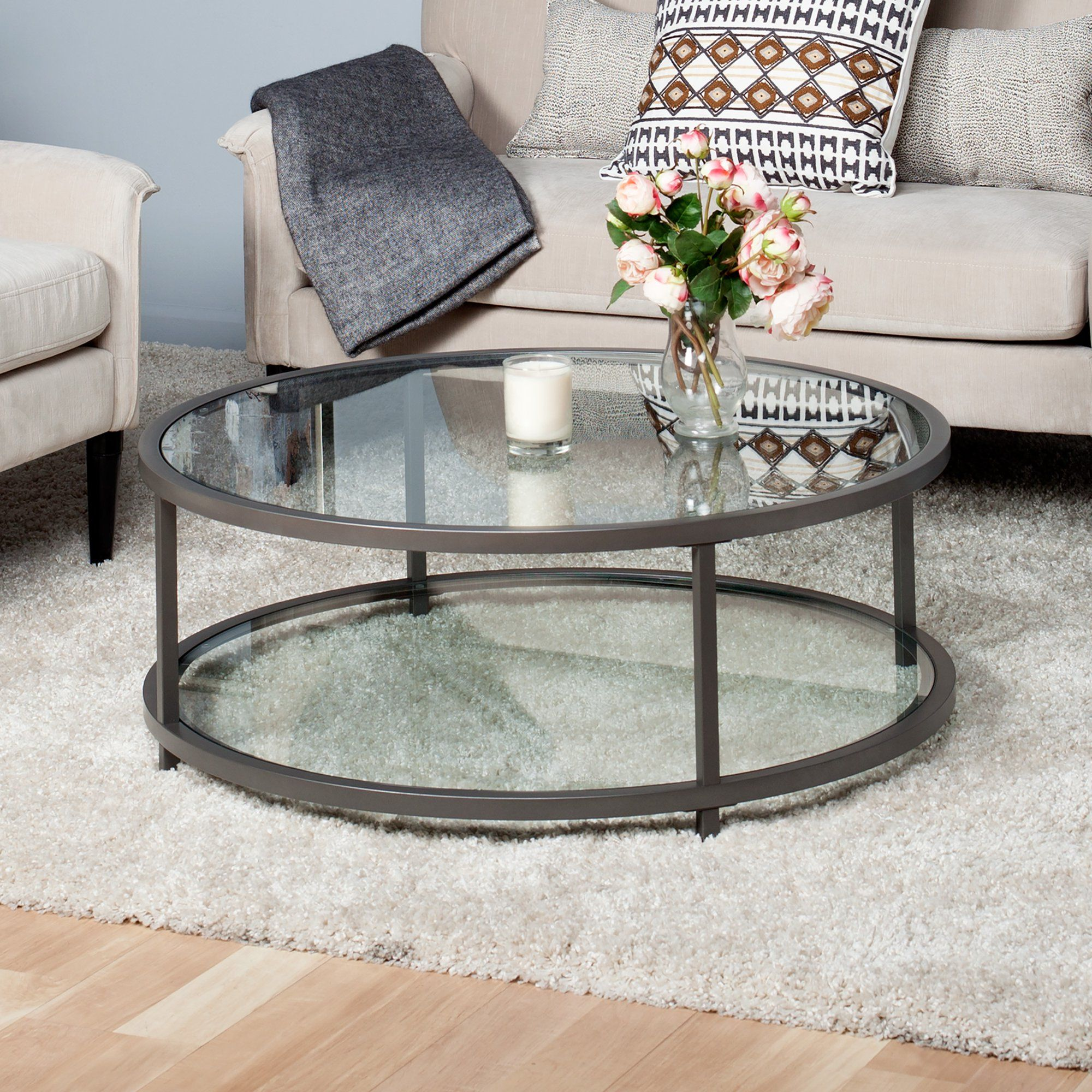 Studio Designs Home Camber 2 Tier Modern 38 Round Coffee Table In Pewter Walmart Com Coffee Table Round Coffee Table Round Glass Coffee Table [ 2000 x 2000 Pixel ]