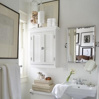 Suzie David Jimenez Small Chic Bathroom Design With Rectangular - Medicine cabinets for bathrooms for bathroom decor ideas