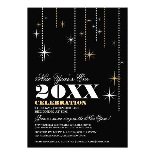 new years eve celebration invitations