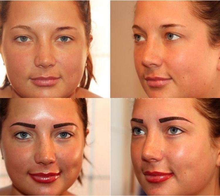 Atemberaubend permanent-make-up-augenbrauen-lippen-schlechte-beispiele #YG_15