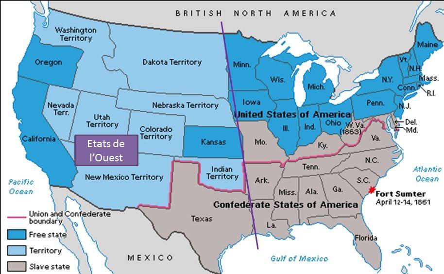 guerre de sécession carte Épinglé sur Guerre de sécession