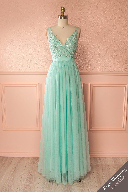 Néomie Mint  Vestidos, Casamento verde, Casamento