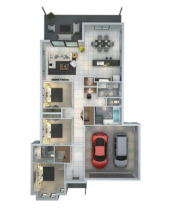 940+ Gambar Desain Rumah Modern 3 Kamar Tidur HD Terbaik Download Gratis