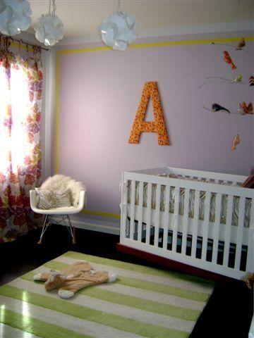 Purple girl's nursery