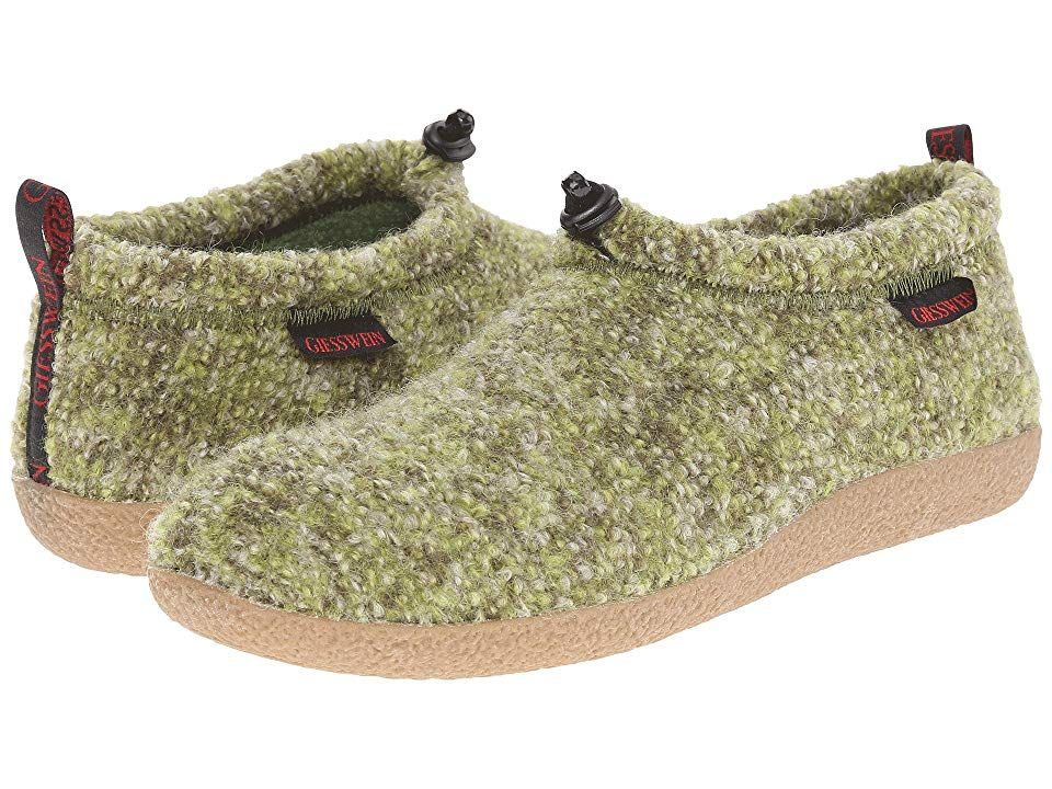 Giesswein Vent (Green) Slippers. On those cold winter
