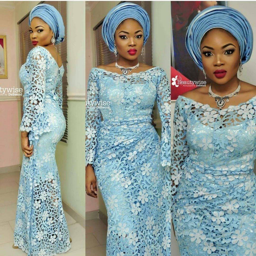Beautiful Nigerian Aso Ebi Styles for Wedding Guests | LACE DESIGN ...
