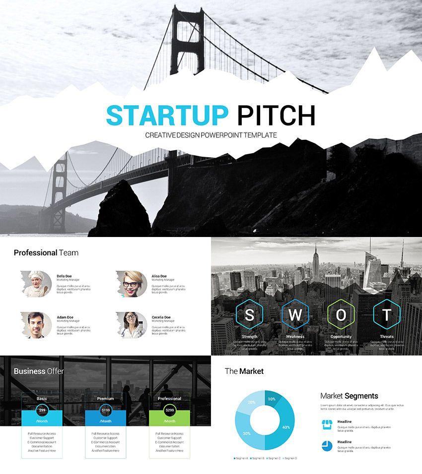 startup pitch presentation clean ppt deck slide deck ideas