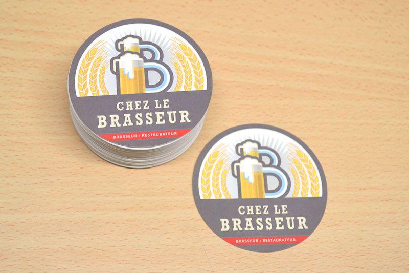 Carte De Visite Ronde Et Originale Pour Un Brasseur Restaurateur