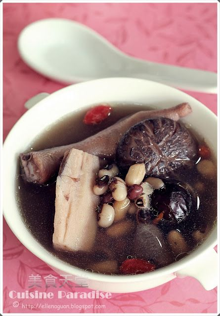 Lotus Roots And Tricolour Beans Soup Food Chinese Soup Recipes Food Blog
