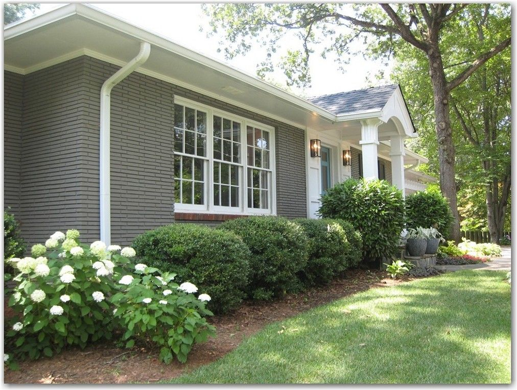 Grey Painted Brick Ranch Style Google Search Home Exterior Pinterest Brick Ranch Ranch