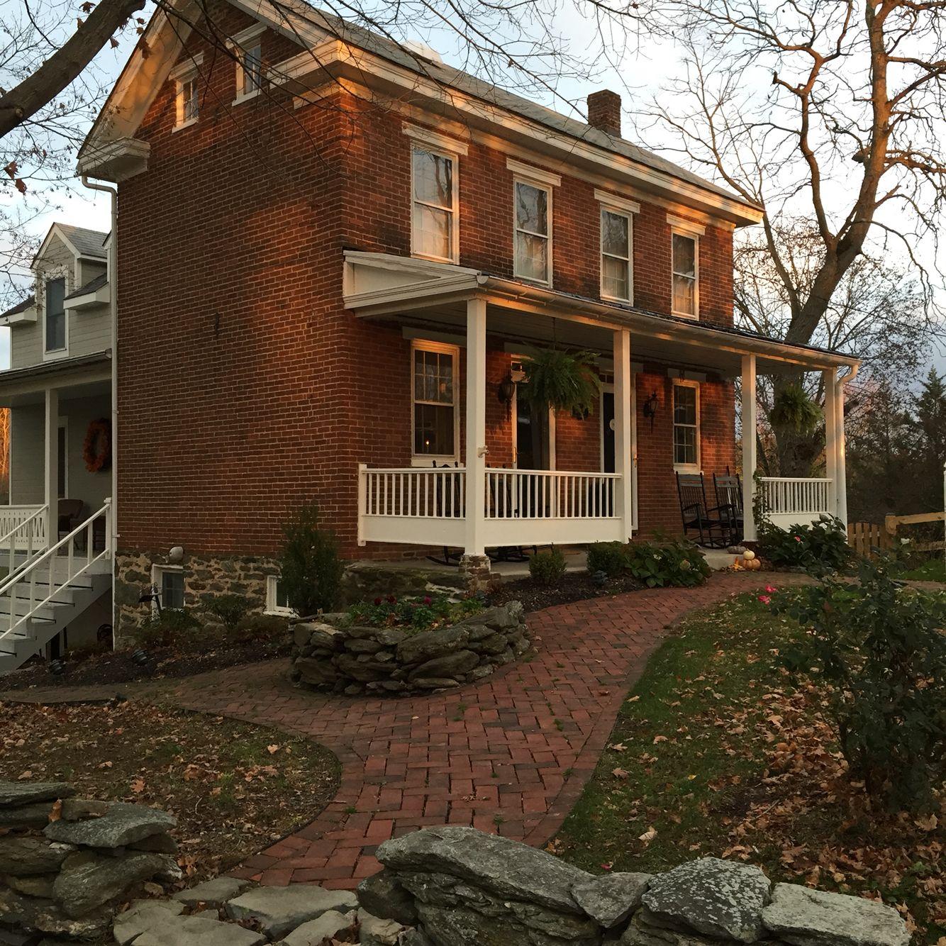 Gorgeous 1870 Brick Farmhouse In 2020 Brick Exterior House Red Brick House Brick Farmhouse