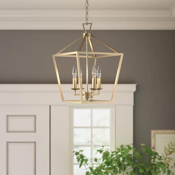 Crest 4 Light Lantern Geometric Pendant In 2020 Lantern Pendant Lighting Gold Lantern Pendant Light Lantern Lights