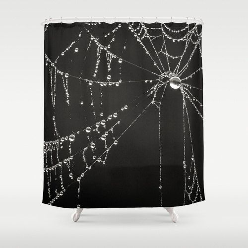 Creepy Gothic Black White Shower Curtain Goth By Inlightimagery