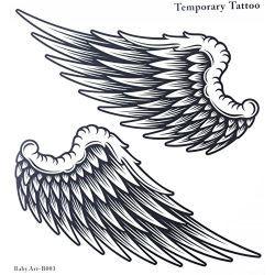 Faux tatouages vente chaude la mode de grandes ailes d 39 ange autocollant de tatouage temporaire - Tatouage ailes d ange ...