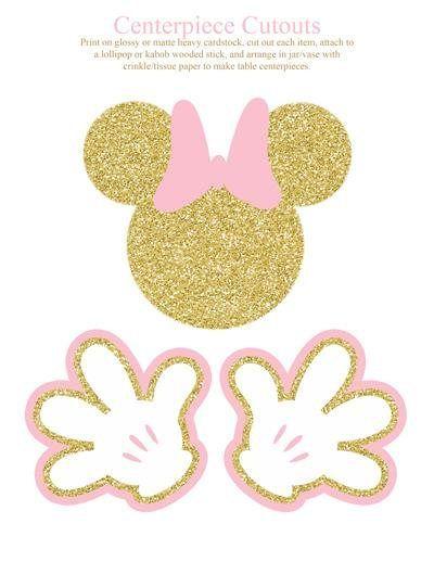 Imprimibles Fiesta De Cumpleaños De Minnie Mouse De Color