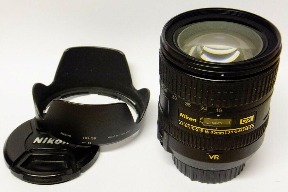 Nikon Af S Dx 16 85 Mm G Ed Vr Objektiv Gebraucht Guter Zustand In Ovp Nikon Stuff To Buy Binoculars