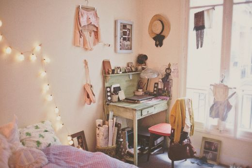 cute clean white bedroom uni room simple interior desk space