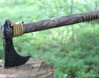 Viking Axe Warrior Berserker Scandinavian Norse Cold Weapon Vikings Rustic Pagan Hatchet Lothbrok Bearded Axes Medieval Mid Viking Axe Blacksmithing Norse