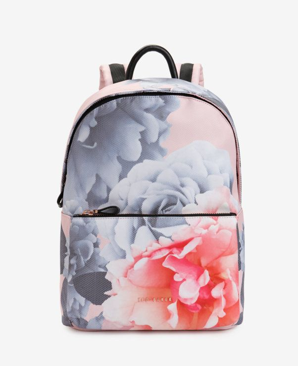 d68edf867 Monorose print backpack - Ted Baker London