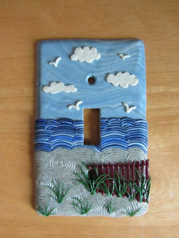 Beach Light Switch Switchplate Cover Polymer By Colorfulclay