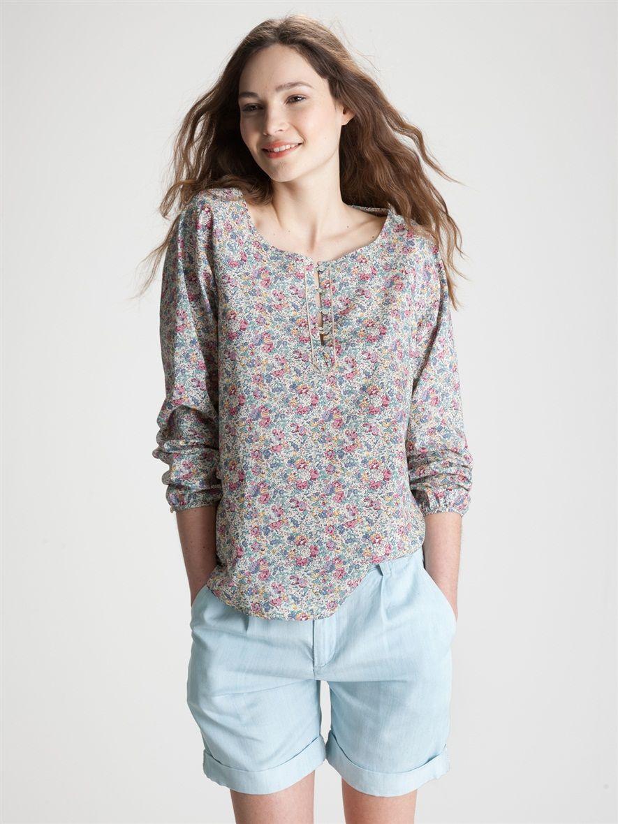 blouse femme imprim liberty la femme vetement et d co cyrillus fashion pinterest. Black Bedroom Furniture Sets. Home Design Ideas