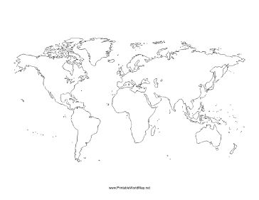 This printable world map with all continents is left blank ideal this printable world map with all continents is left blank ideal for geography lessons mapping routes traveled or just for display gumiabroncs Choice Image