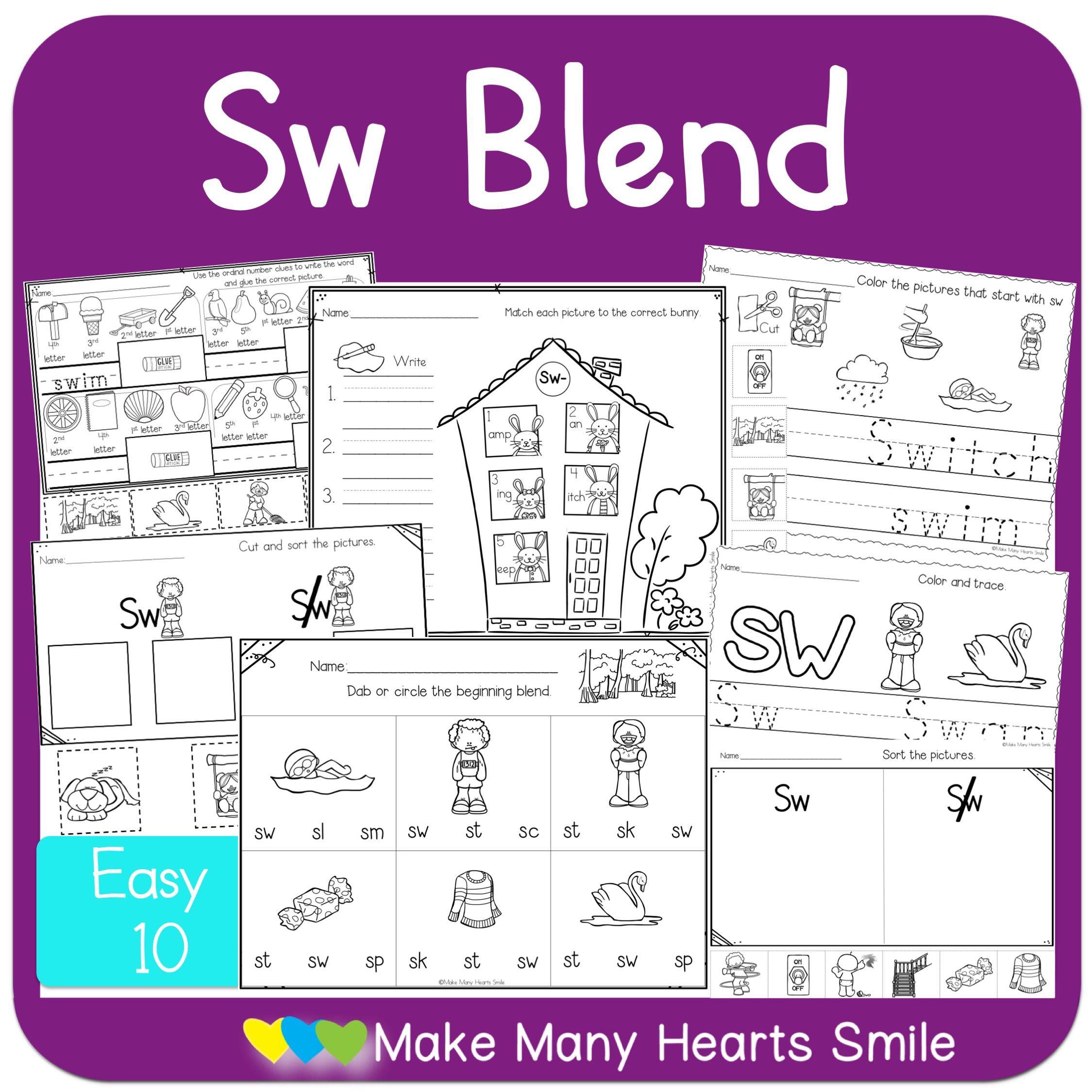 Sw Blend Fun Worksheets