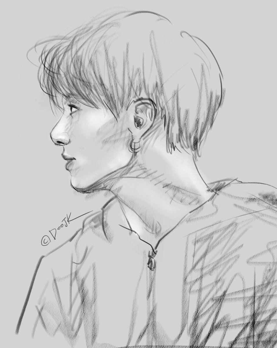 jungkook fanart   Twitter Search   Bts drawings, Kpop drawings ...