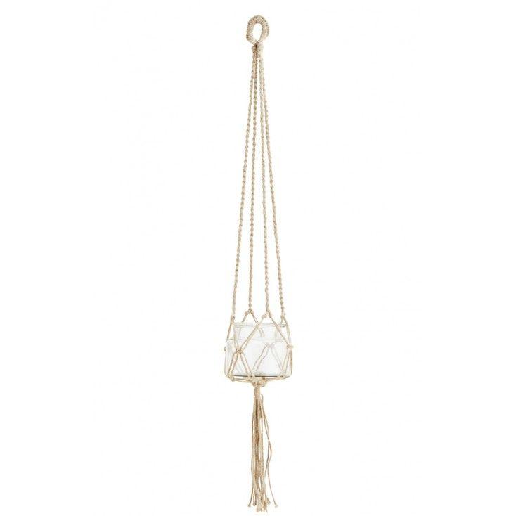 suspension plante en corde corde jute et suspension plante. Black Bedroom Furniture Sets. Home Design Ideas