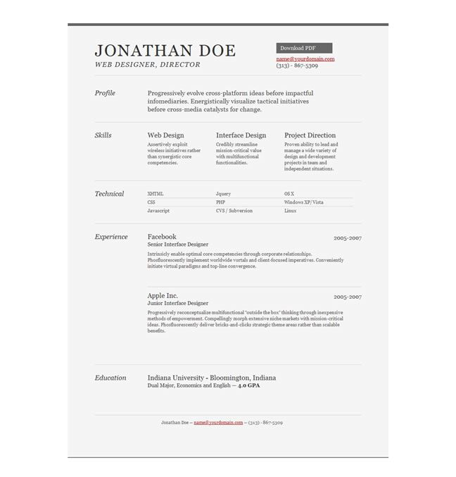 professional resume template free download templates design magazine job format pdf