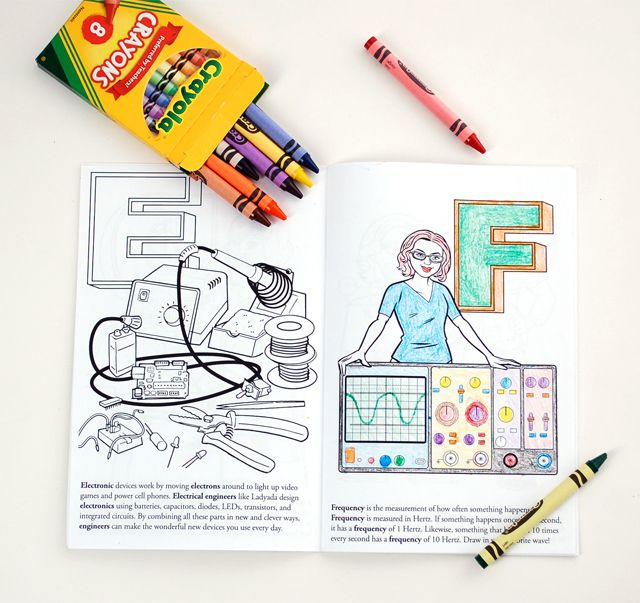 Ladyada\'s E is for Electronics, A Coloring Book Featuring Electronic ...