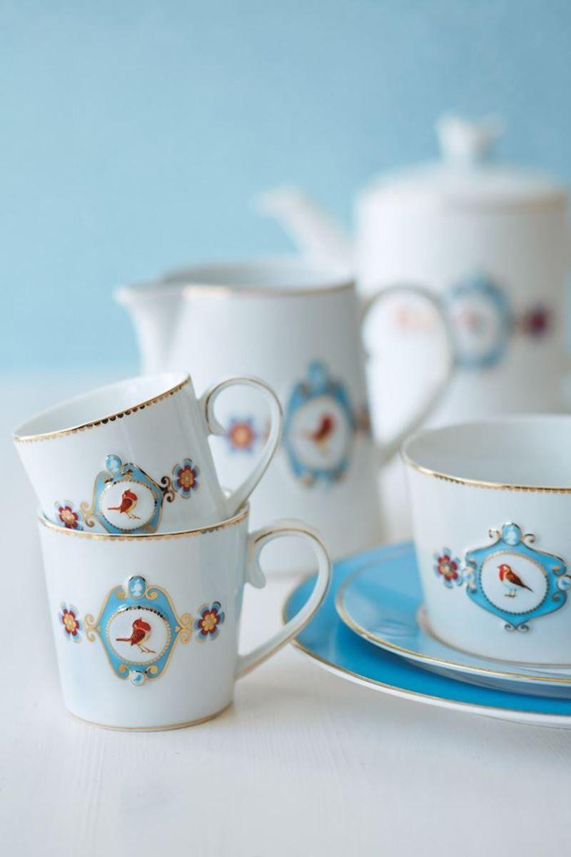 Pip Love Birds Tea Pot White