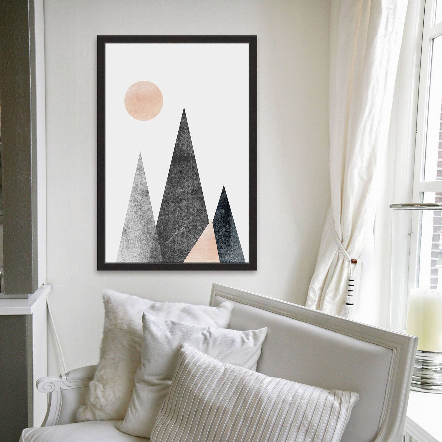 A New Dawn // Framed Painting Print Inspire a sense of northern-ward wanderlust with this collection of rugged, high-contrast prints. Professionally reproduced on a variety of unusual mediums, the...