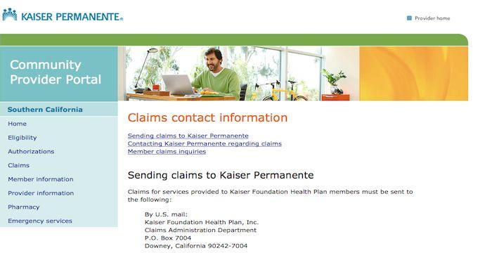 Kaiser Permanente Insurance Claims Kaiser Permanente Insurance