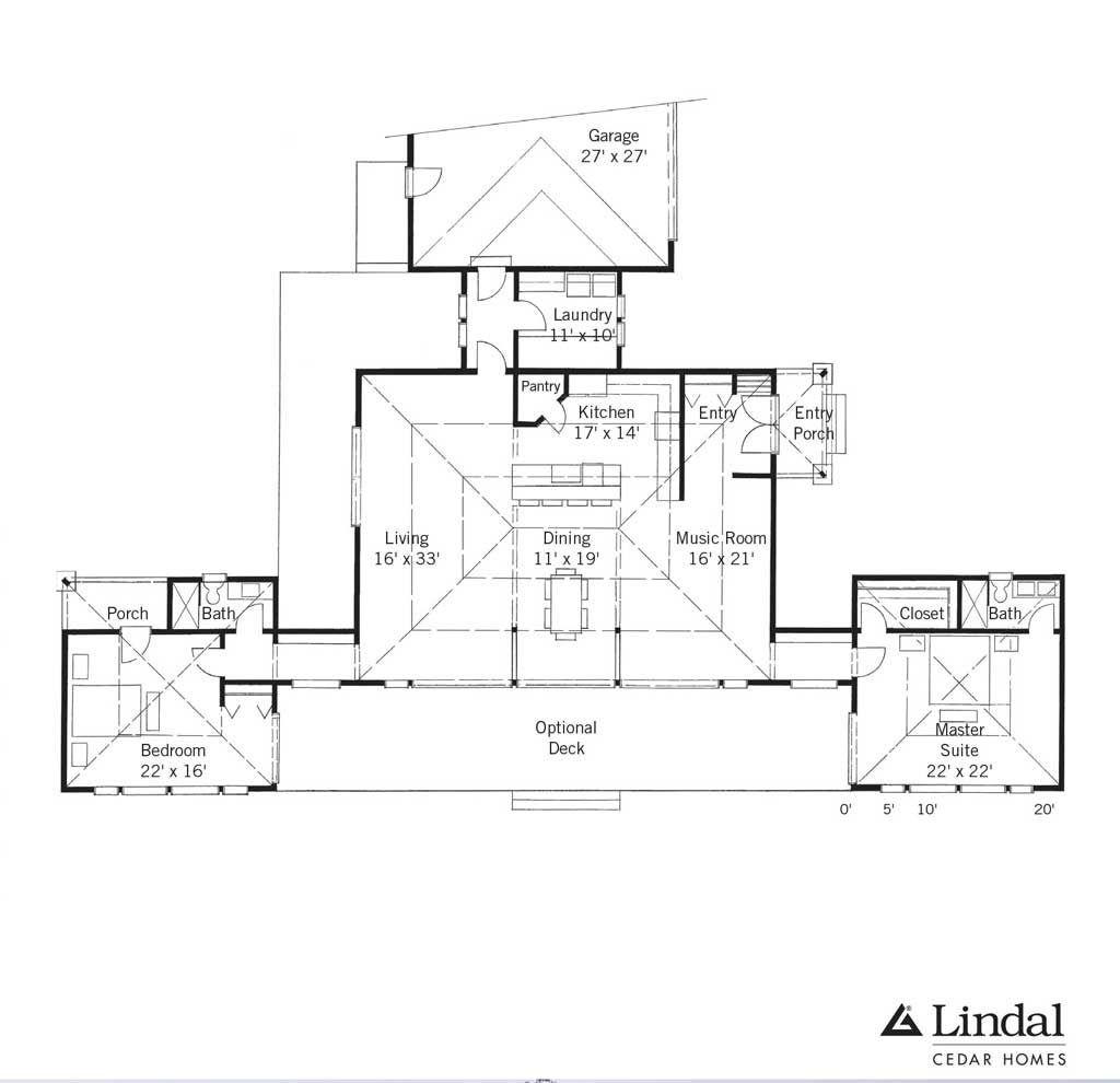 Prairie Sun - Lindal Cedar Homes | Frank Lloyd Wright | Pinterest ...