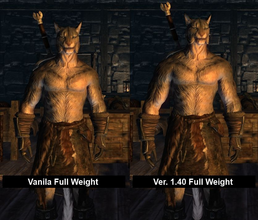 A Better body scale for Khajit and Argonian Male by TS | Skyrim