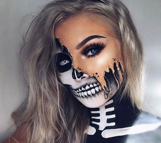 30+ Cool and Glamorous Skeleton Makeup Ideas 30  Cool and Glamorous Skeleton Makeup Ideas