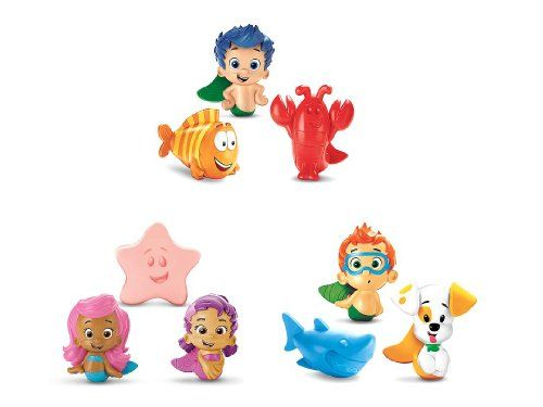 Nickelodeon Bubble Guppies 9 Pack Set Bath Squirters Nonny Molly Oona Gil  Fisher Price Http