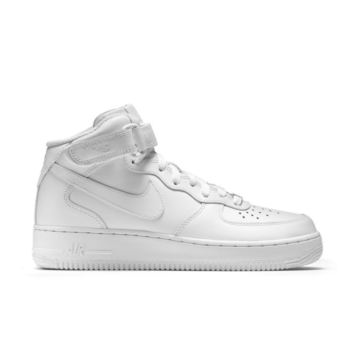 nike air force 1 mid white sneakers dames zwart