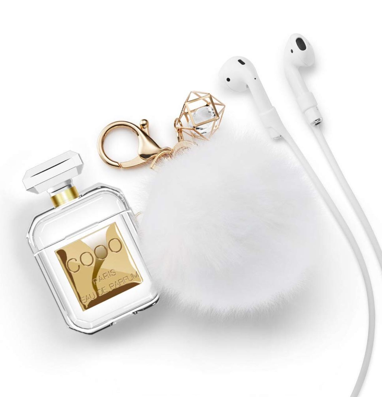 Lastma airpods case perfume bottle case silicone soft
