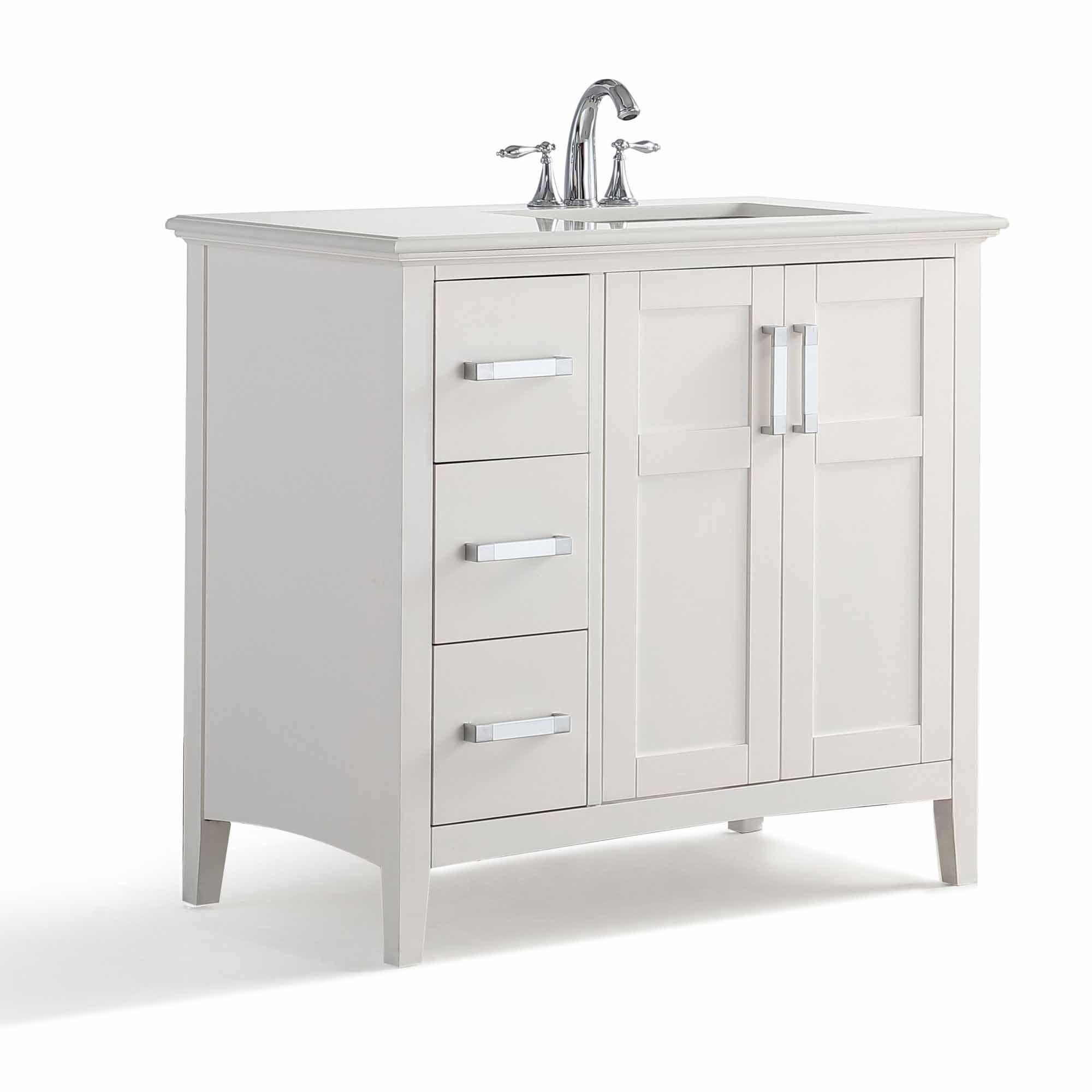36 Inch Winston Black Bath Vanity Simpli Home Single Bathroom Vanity Marble Vanity Tops Single Sink Bathroom Vanity