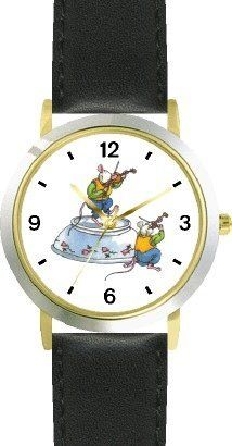 Ole or Old King Cole - Fiddlers No.1 - from Mother Goose by Artist: Sylvia Long - WATCHBUDDY® DELUXE TWO-TONE THEME WATCH - Arabic Numbers - Black Leather Strap-Size-Children's Size-Small ( Boy's Size & Girl's Size ) WatchBuddy. $49.95. Save 38%!