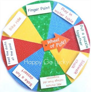 activity wheel neat idea to let kids pick their next activity by