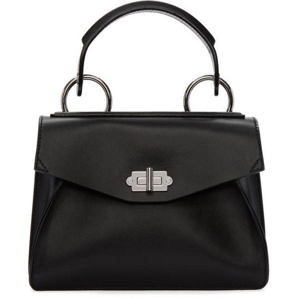 Proenza Schouler Black Small Hava Top Handle Bag 1 505 Liked On Polyvore Featuring Bags Handbags Shoulder Clasp Handbag