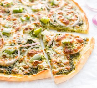 Vegetarian Pesto Pizza