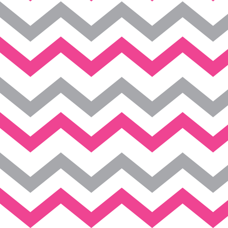 Colorful fabrics digitally printed by Spoonflower - Pink & Gray Chevron
